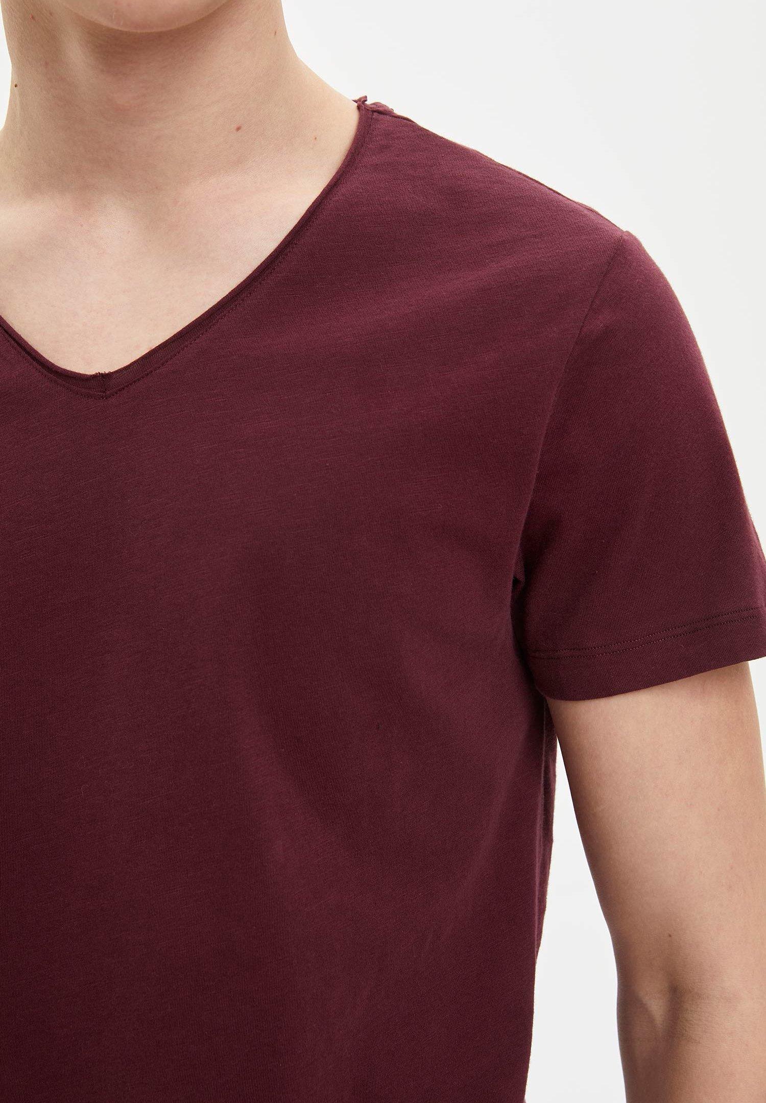 DeFacto Basic T-shirt - bordeaux CVP4z