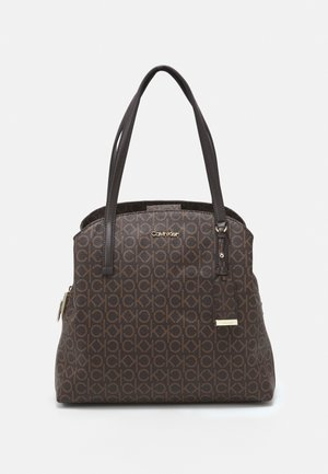 MUST SHOULDER BAG MONO - Handbag - brown
