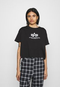 Alpha Industries - BASIC - Print T-shirt - black - 0