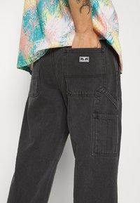 Obey Clothing - HARD WORK CARPENTER - Straight leg -farkut - dusty black - 6