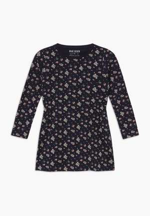 KIDS FLORAL PRINT - Jersey dress - nachtblau