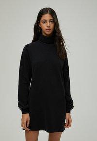 PULL&BEAR - Denní šaty - black - 0