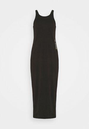 MAXI TANK TOP DRESS - Jersey dress - dark black