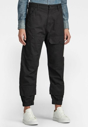 TAPERED - Trousers - dk black