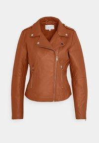 Vila - VICARA JACKET - Faux leather jacket - tortoise shell - 5