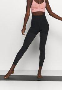Nike Performance - LUXE LAYERED 7/8 - Tights - black/dark smoke grey - 0