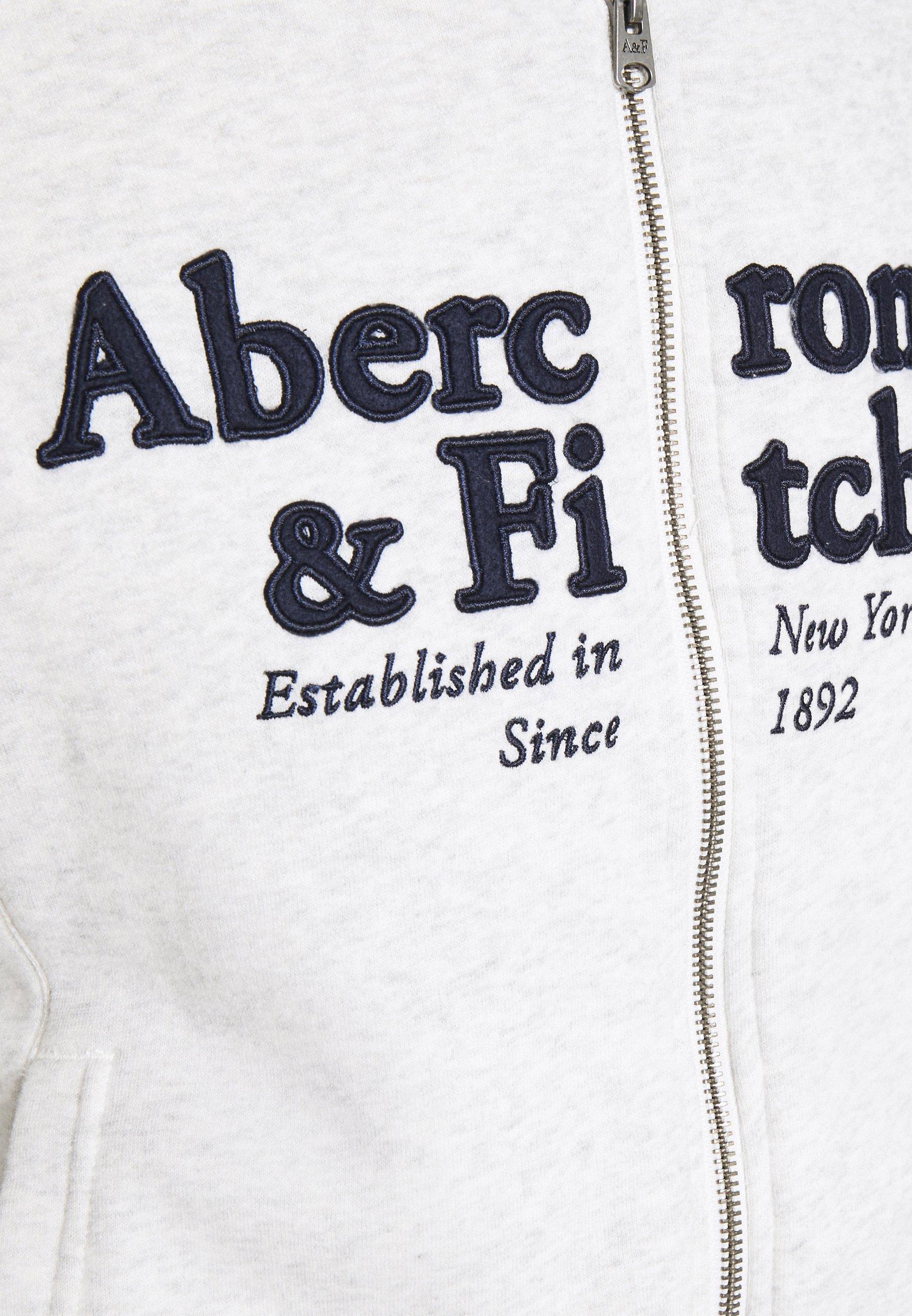 Abercrombie & Fitch FULL ZIP - veste en sweat zippée - grey heather