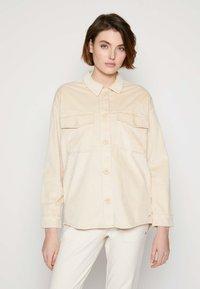 TOM TAILOR DENIM - SHIRT JACKET - Summer jacket - blazed beige - 0