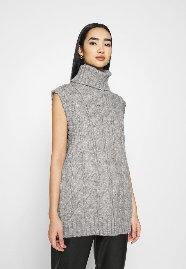 YASCANNA - Print T-shirt - light grey melange