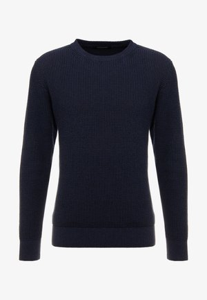 STRUCTURED CREWNECK - Neule - night melange