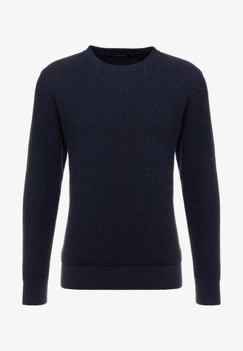STRUCTURED CREWNECK - Stickad tröja - night melange