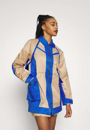 NEXT UTILITY JACKET - Short coat - hemp/game royal/blue lagoon