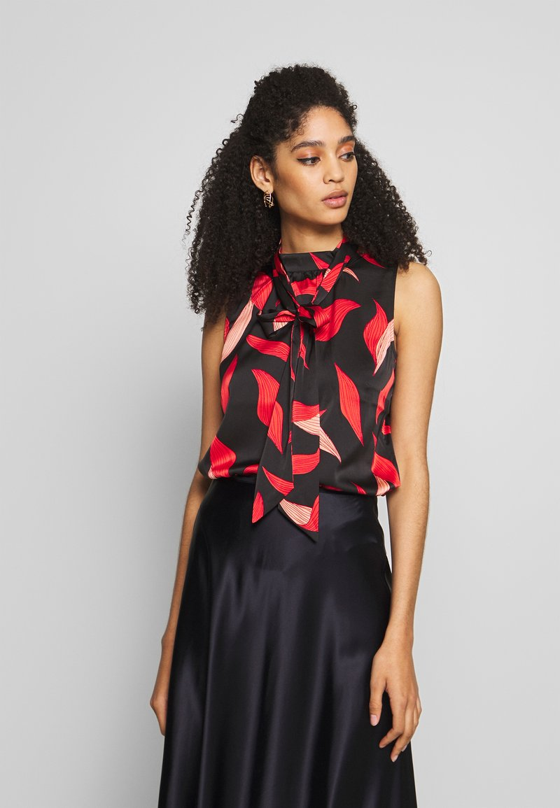 comma - Blouse - black/red