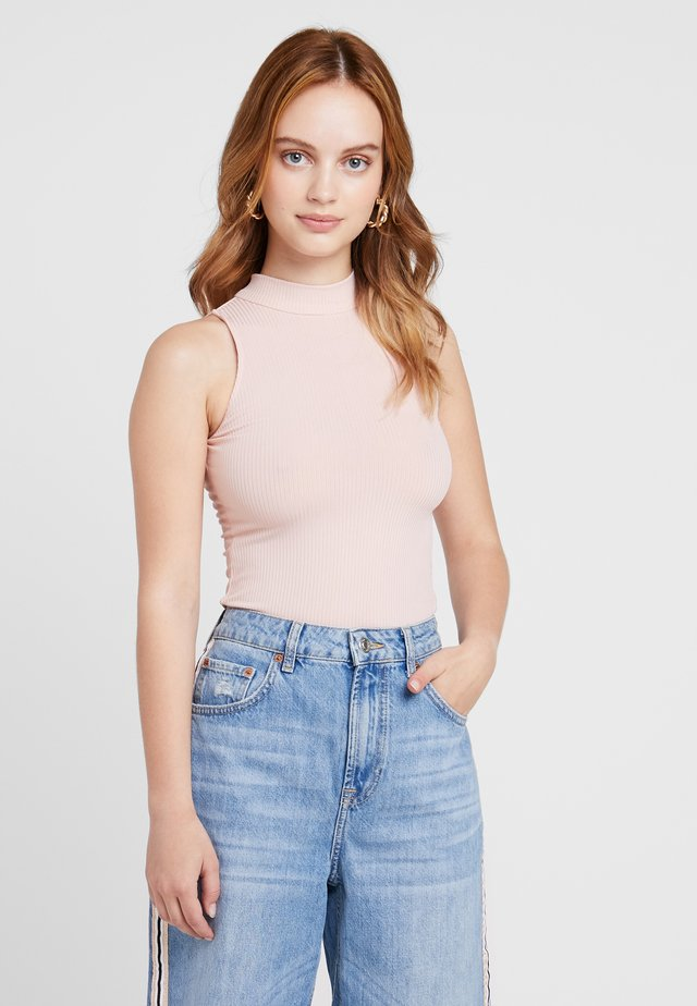 HIGH NECK - Top - dusty pink