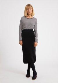 ARMEDANGELS - LADAA  - Sweatshirt - black, white - 1