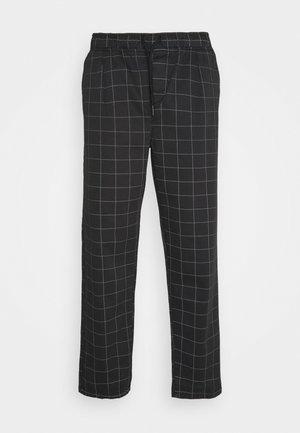 CHECK TROUSER - Trousers - black