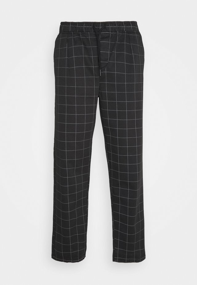 CHECK TROUSER - Bukser - black
