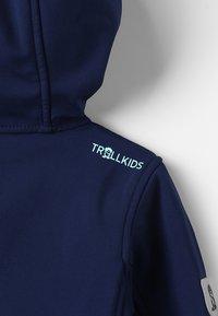 TrollKids - GIRLS TROLLFJORD JACKET - Softshellová bunda - navy/mint - 6