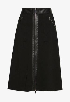 MIDI SKIRT - A-snit nederdel/ A-formede nederdele - black