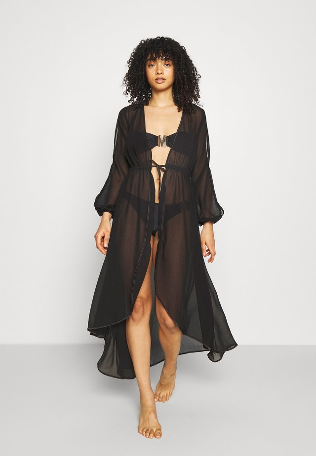 THE OPULENT HANGING ROBE - Ranta-asusteet - black