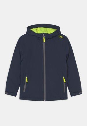 FIX HOOD UNISEX - Zimní bunda - blue/neon yellow