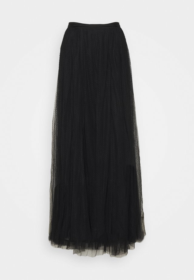 LONG SKIRT - Maxirock - black