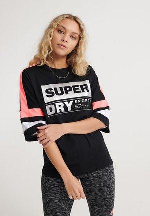 SUPERDRY STREETSPORT T-SHIRT - T-shirts print - black