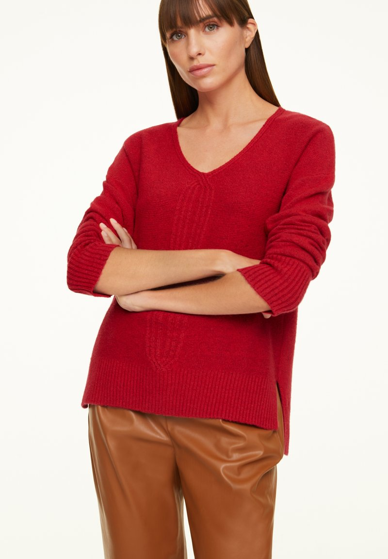 comma - LOOSE FIT - Jumper - red