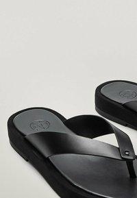 Massimo Dutti - T-bar sandals - black - 6