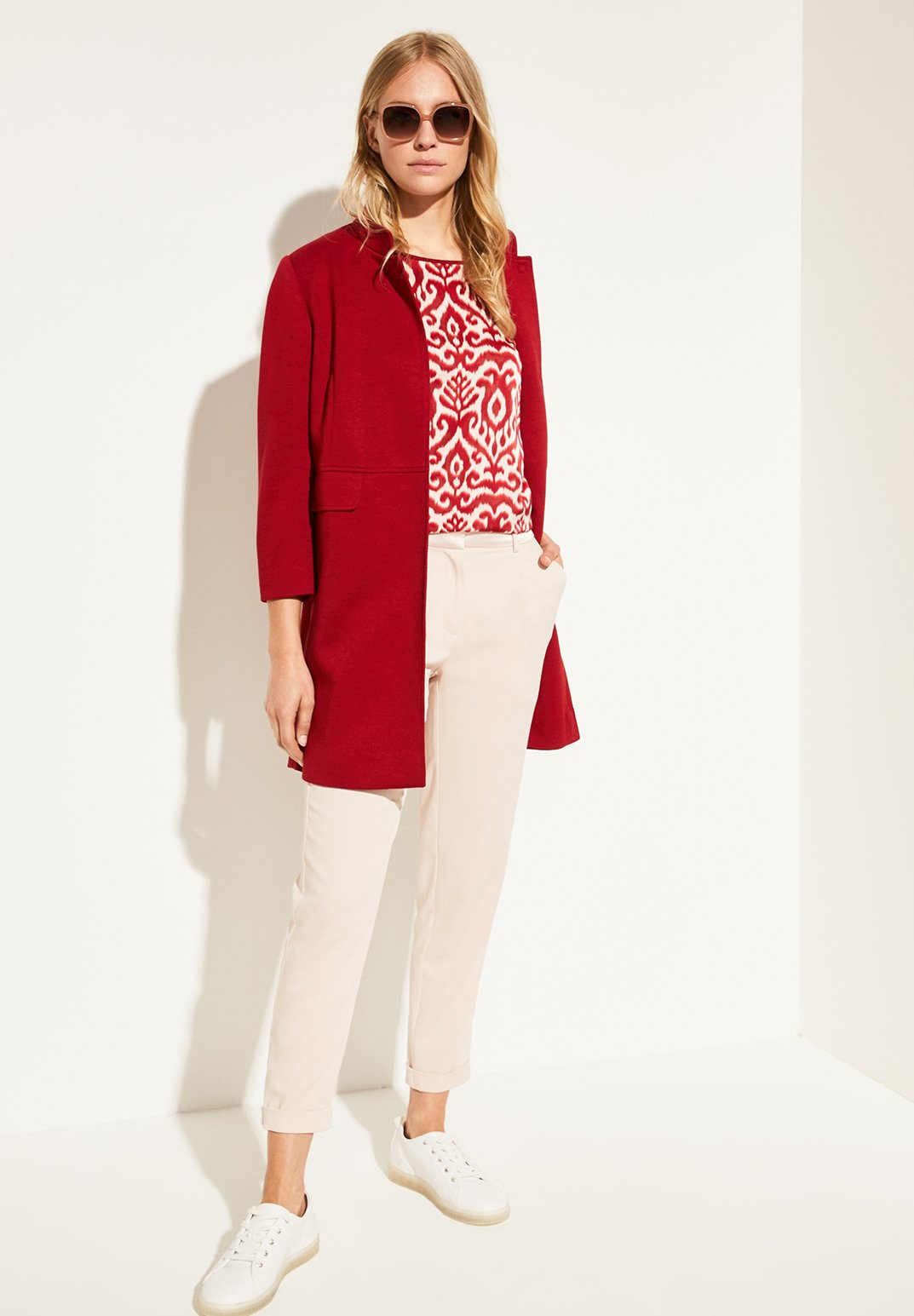 Damen SHIRT IM FABRIC-MIX - T-Shirt print
