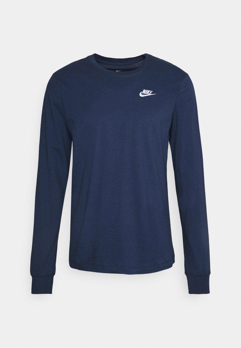 Nike Sportswear - CLUB TEE  - Maglietta a manica lunga - midnight navy/white