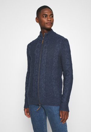 Cardigan - mottled dark blue