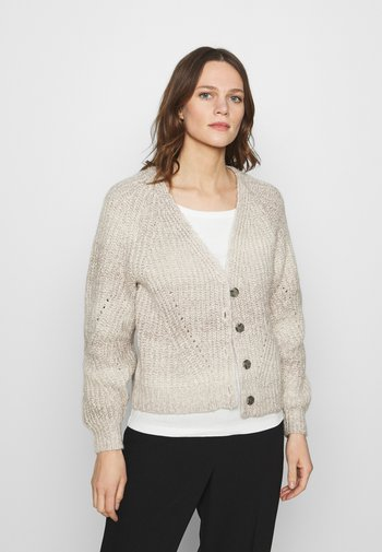 CROPPED FASHIONED CARDIGAN - Cardigan - light gray
