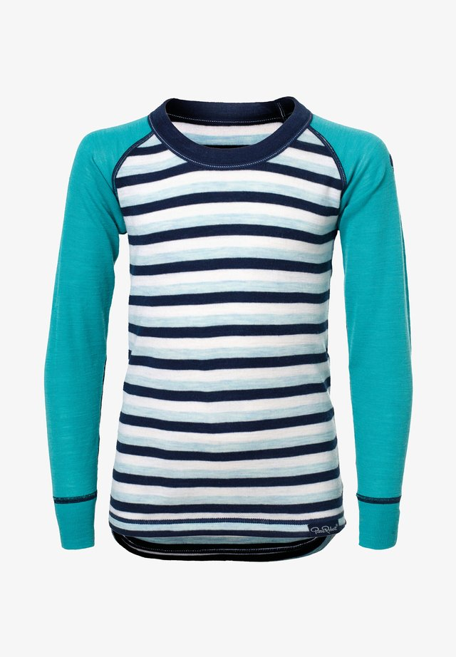 Langærmede T-shirts - mint stripe