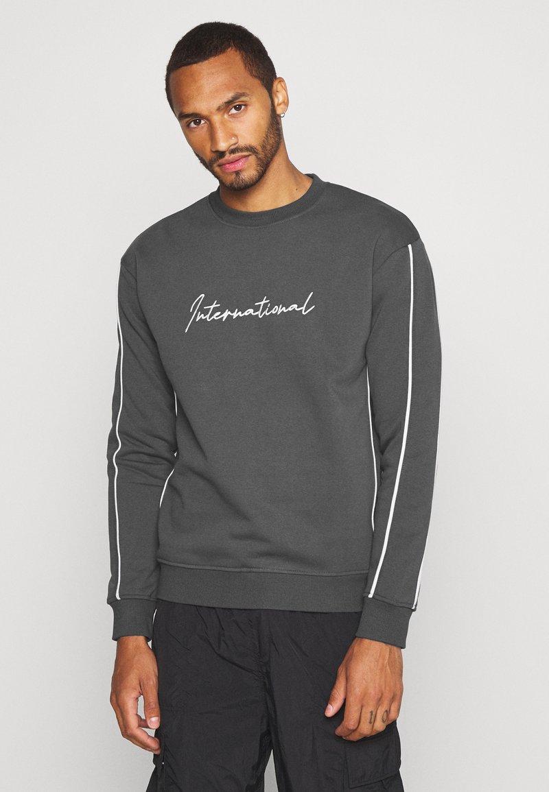 New Look - PIPED  - Sweatshirt - dark grey
