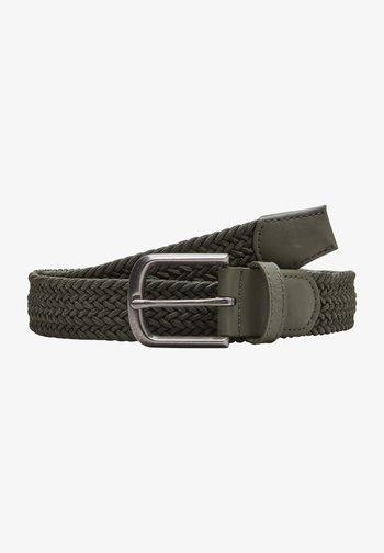 Braided belt - khaki