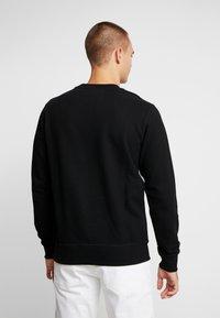 Calvin Klein Jeans - UPSCALE MONOGRAM CREW NECK - Sweatshirt - black - 2