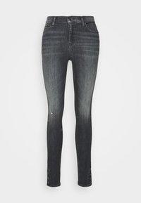 NORA ANKLE - Jeans Skinny Fit - aster black stretch destructed