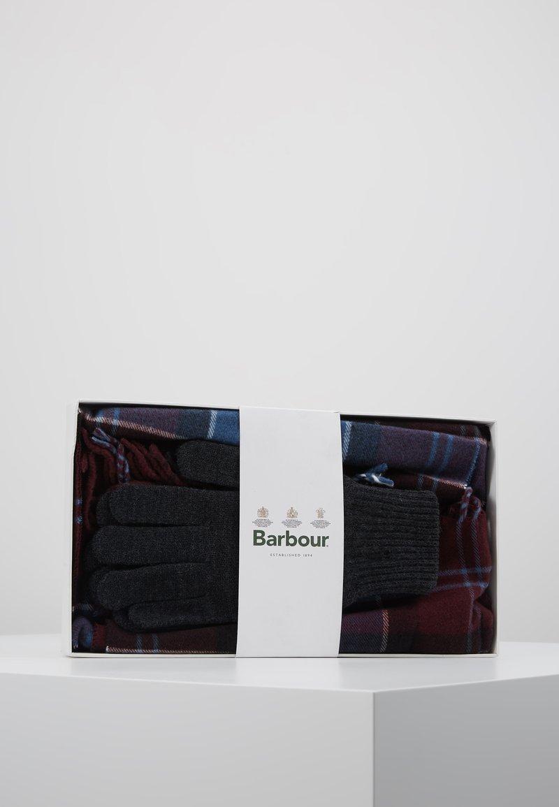 Barbour - TARTAN SCARF GLOVE SET - Scarf - merlot/charcol