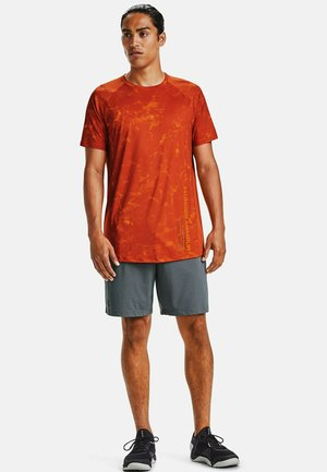 Print T-shirt - rich orange