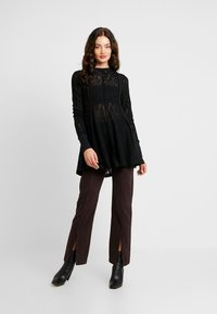 Free People - COFFEE IN THE MORNING - Long sleeved top - black - 1