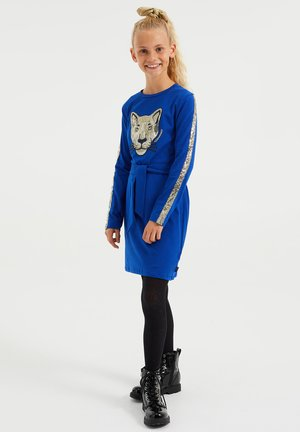 MET EMBROIDERY - Jersey dress - blue