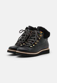 Cole Haan - ZEROGRAND EXPLORE HIKER WP - Lace-up ankle boots - black/grey - 2