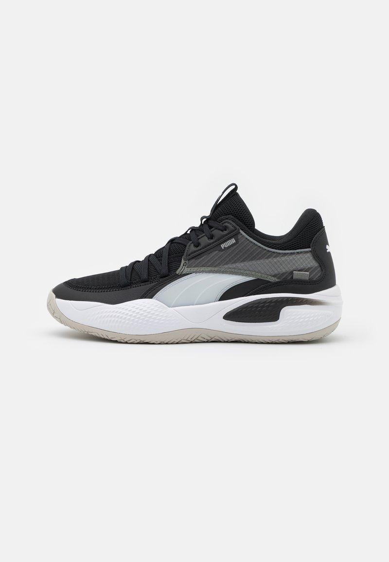 Puma - COURT RIDER - Basketball shoes - white/black