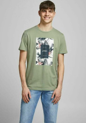 JORFLORALL - Print T-shirt - sea spray