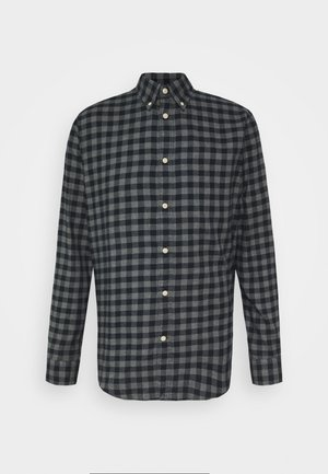 SLHSLIMFLANNEL SHIRT - Košile - dark blue