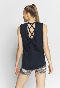 Cotton On Body - TWIST BACK MUSCLE TANK - Toppi - navy - 2
