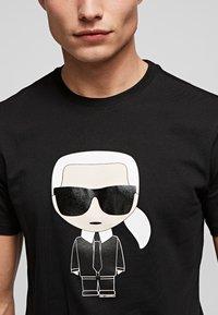 KARL LAGERFELD - IKONIK  - Print T-shirt - black - 4