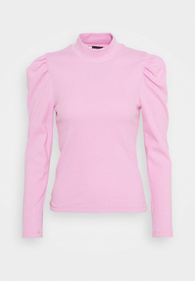 PCANNA T NECK - Pitkähihainen paita - pastel lavender