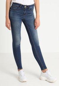 Vila - VICOMMIT FELICIA  - Slim fit jeans - dark blue denim - 0